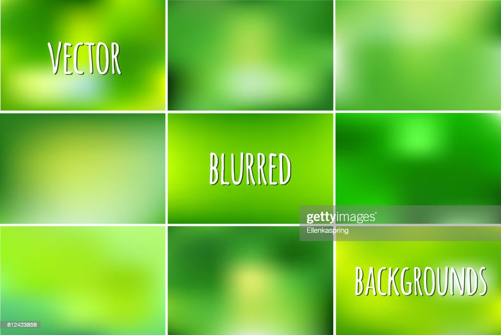 Vector set of abstract colorful blurred backgrounds