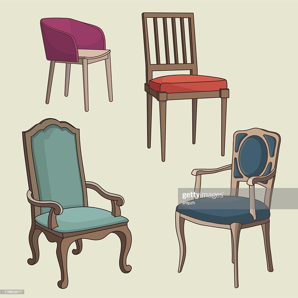 Vector Set of Armchairs
