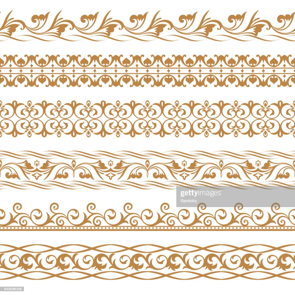vector set of art dividers