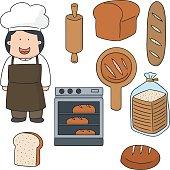 vector set of baker