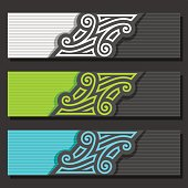 Vector set of Banner templates