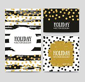 Vector set of beautiful hand drawn cards templates.