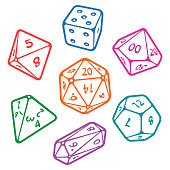 Vector set of board game dices