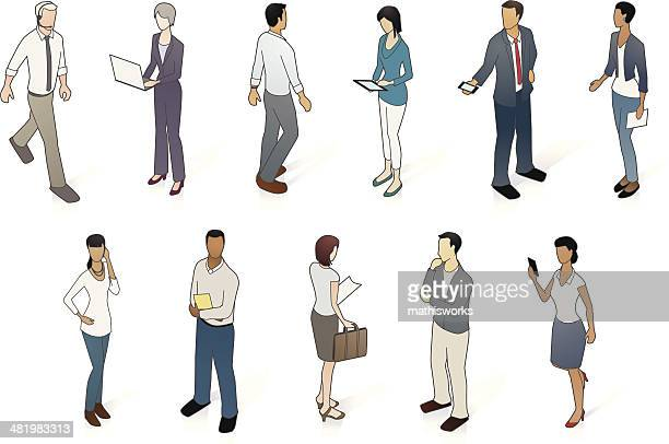 vector set of business people - mathisworks business stock illustrations