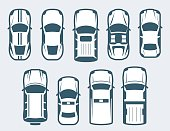 Vector set of cars - top view