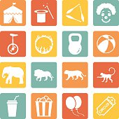 Vector Set of Circus Icons