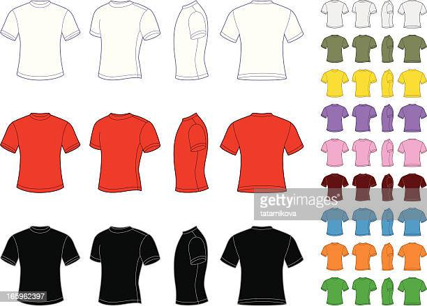 Vector set of classic men's T-shirts
