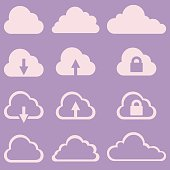Vector Set of Cloud Icons