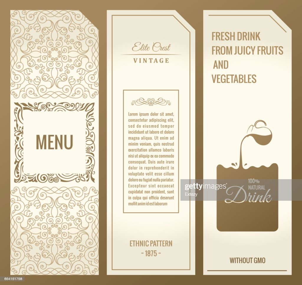 Vector set of design elements labels, icon,, frame, luxury packaging for the product