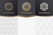 Vector set of design elements, labels