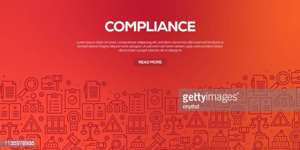 vector set of design templates and elements for compliance in trendy linear style - seamless patterns with linear icons related to compliance - vector - politics illustration stock illustrations