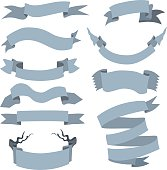 Vector Set of  Different Ribbons for Your Text.