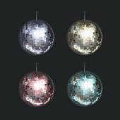 Vector set of Disco Balls