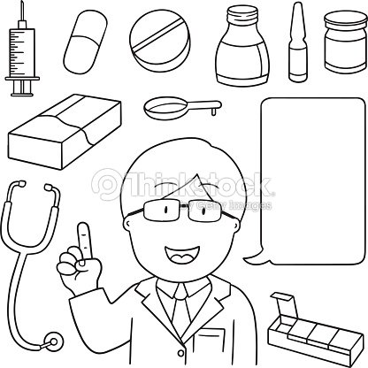 Vector Set Doctor Medicine And Medical Equipment Vector #0: vector set of doctor medicine and medical equipment vector id s= a&w=1007