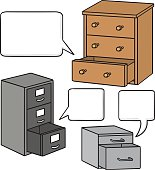 vector set of drawer