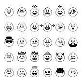 Vector set of emoji