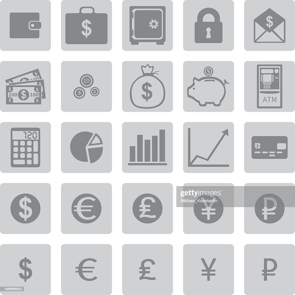 Vector Set of Finance Icons