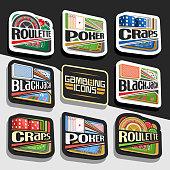 Vector set of Gambling Icons
