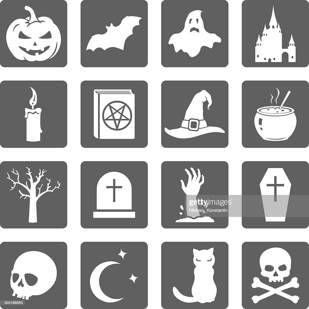Vector Set of Halloween Icons