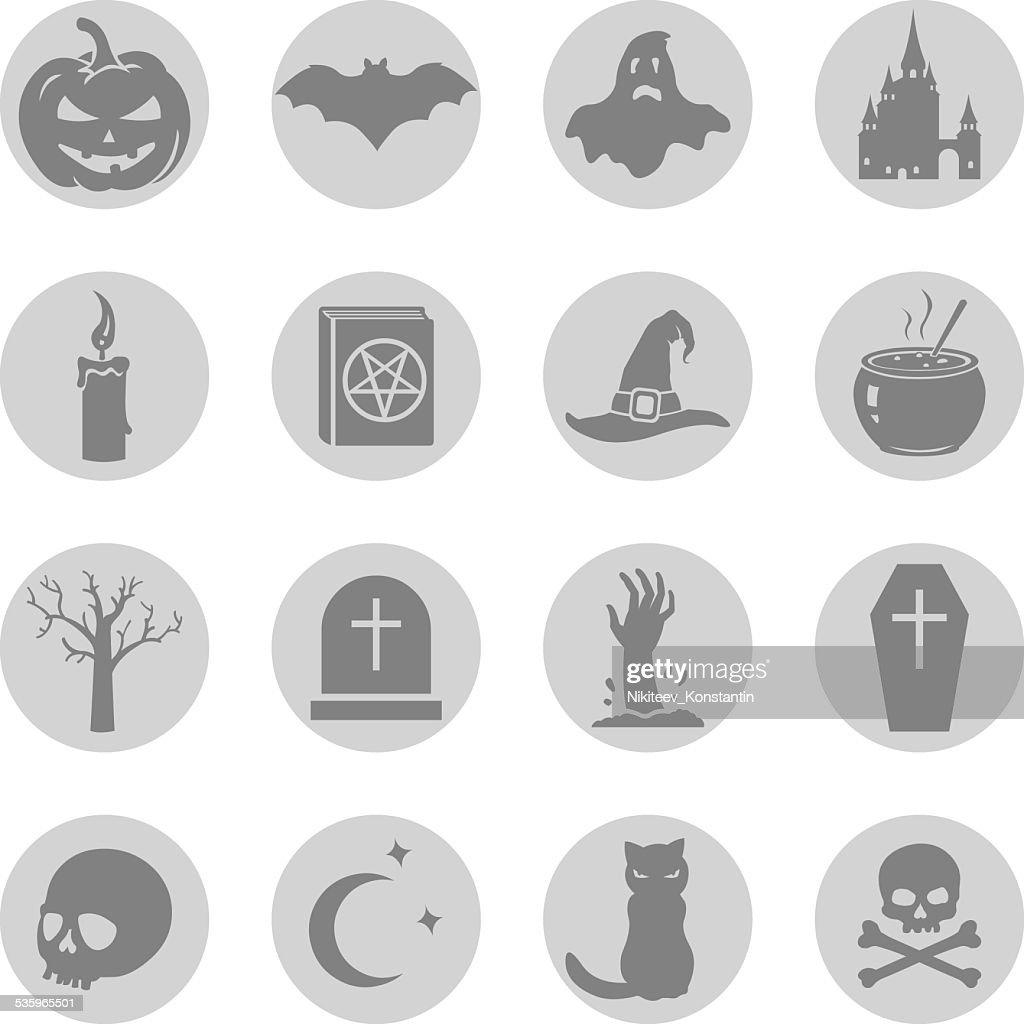 Vector Set of Halloween Icons : Vector Art
