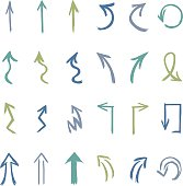 Vector Set of Hand Drawn Arrows