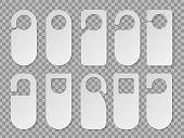 Vector set of hotel room hangers