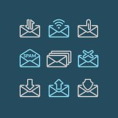 Vector Set of icons E-mail.