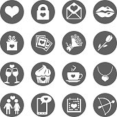 Vector Set of Icons for Valentine Day