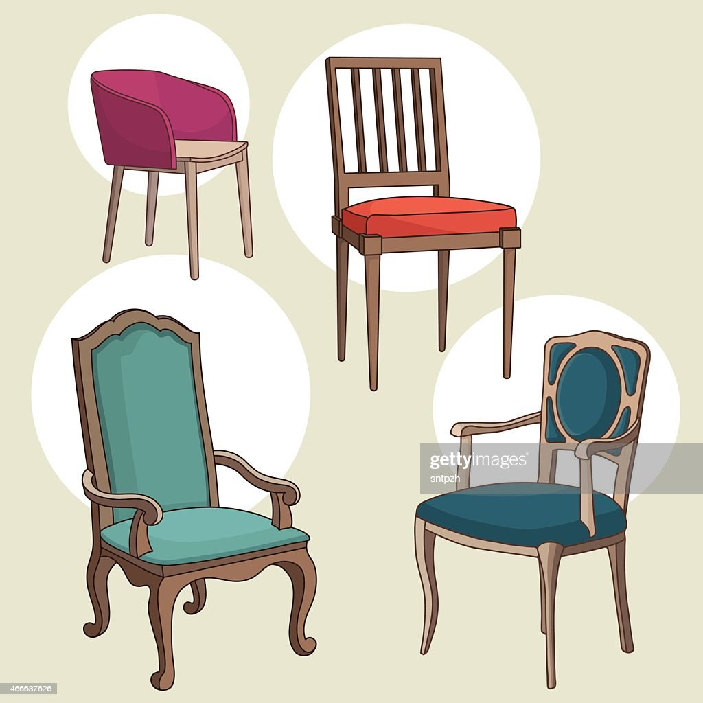 Vector Set of Armchairs