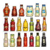 Vector set of isolated Bottles