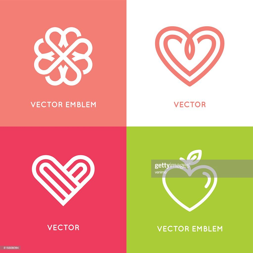 Vector set of logo design elements and templates