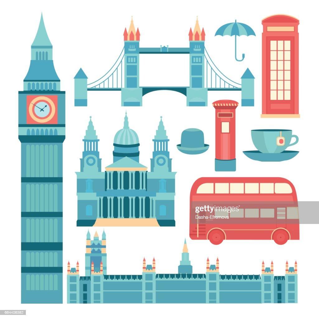 Vector set of London