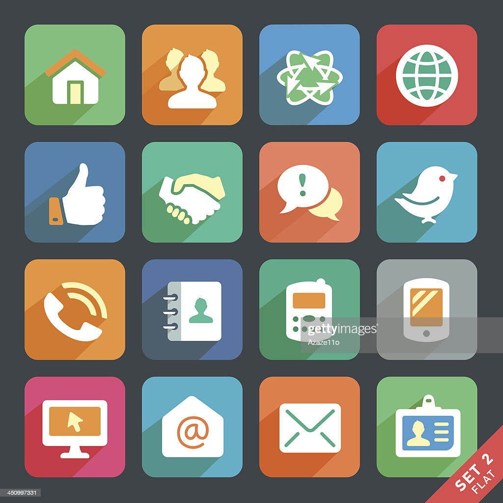 Vector set of media and communication icons