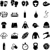 Vector Set of Mix Martial Arts Icons