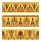 Vector set of national greek seamless ornaments (patterns)