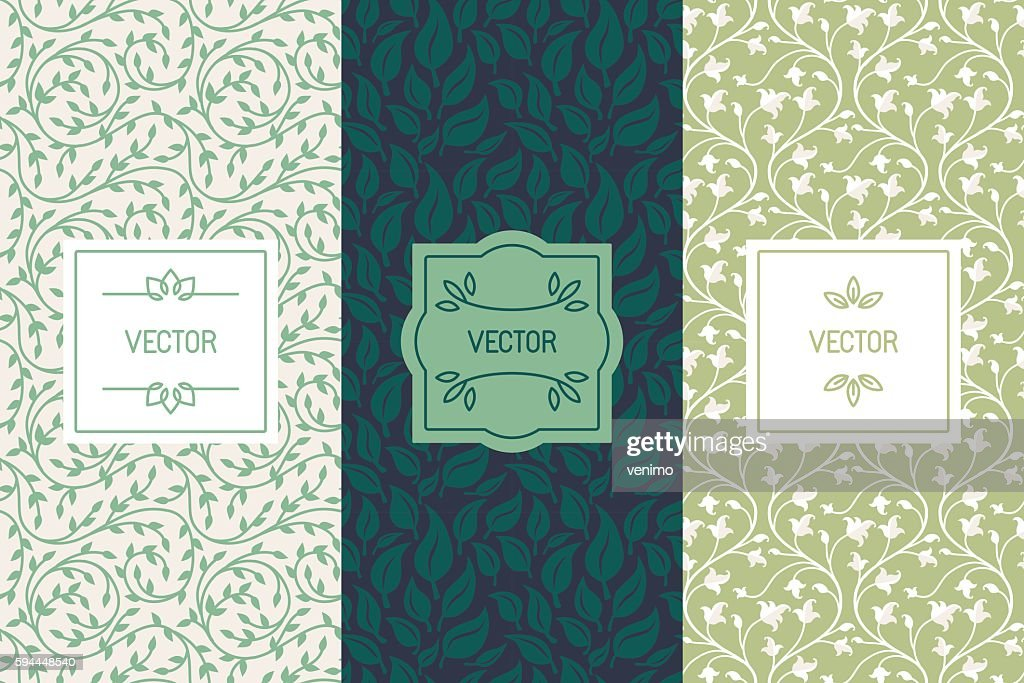 Vector set of packaging design templates for cosmetics, beauty p