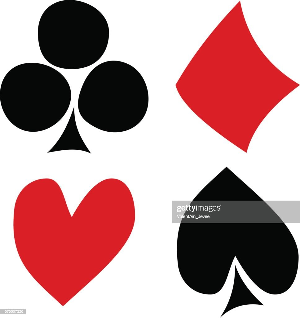 Vector set of playing card symbols hand drawn black and red icons vector set of playing card symbols hand drawn black and red icons isolated on the biocorpaavc