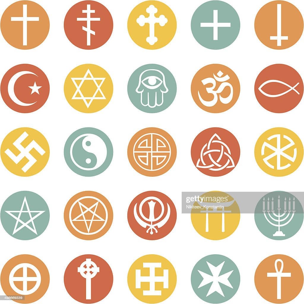 Vector Set Of Religious Symbols Vector Art Getty Images