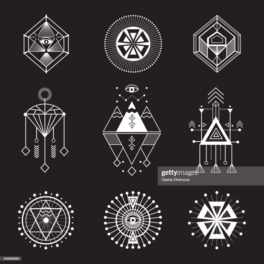 Vector set of sacred geometry
