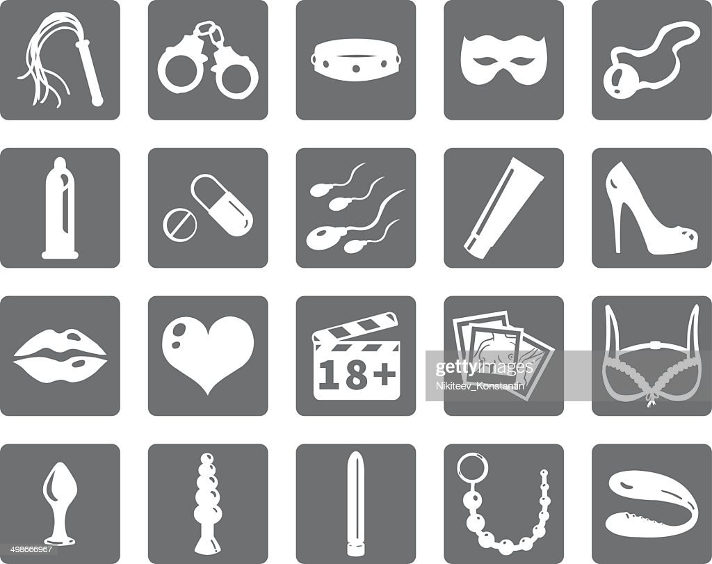 Vector Set of Sex Shop Icons