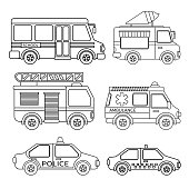 Vector set of special transport.