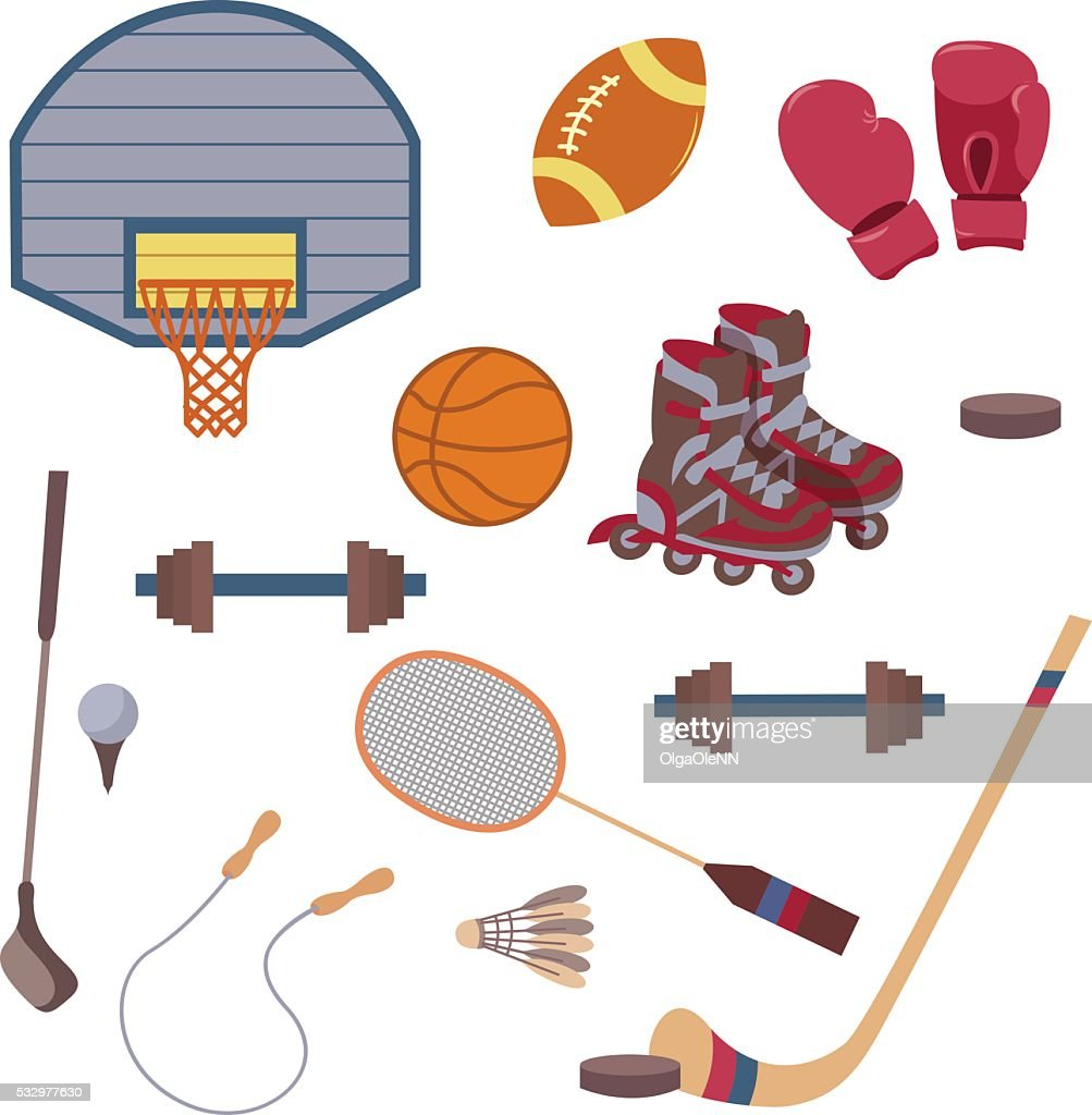 Vector set of sport objects