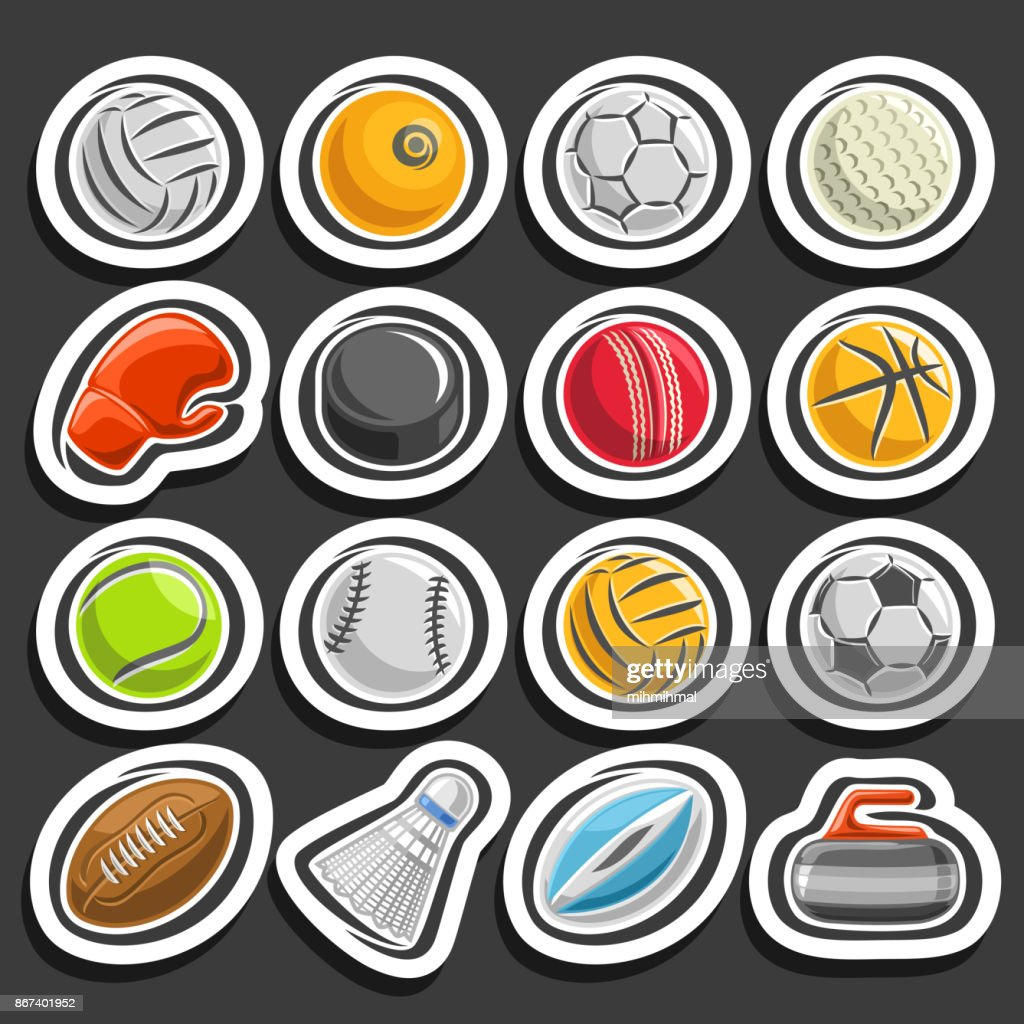 Vector set of Sports Balls