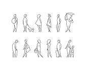 Vector set of stylized people figures