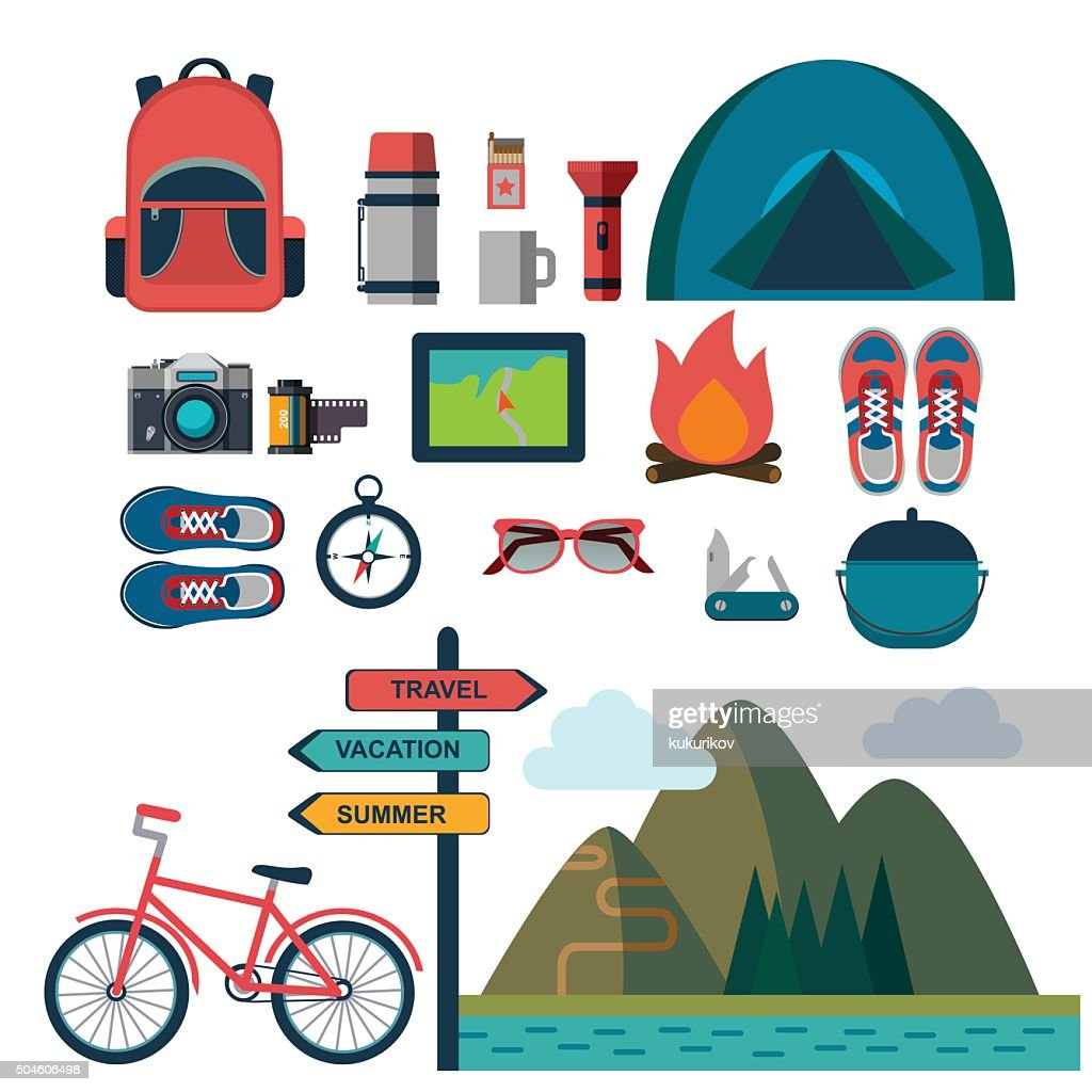 vector set of touristic icons