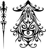 Vector Set of Tribal Tattoo