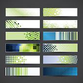 Vector Set of Twelve Banner Designs
