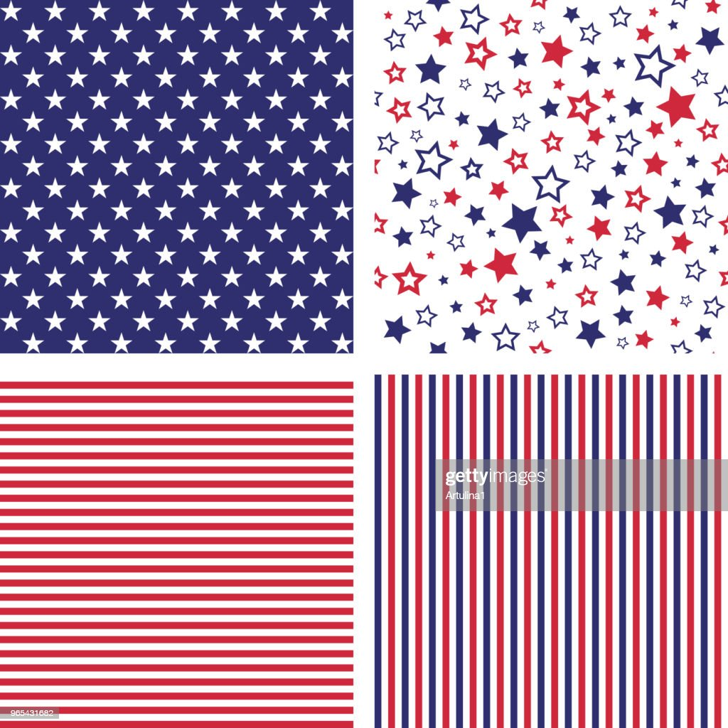Vector set of US style seamless patterns