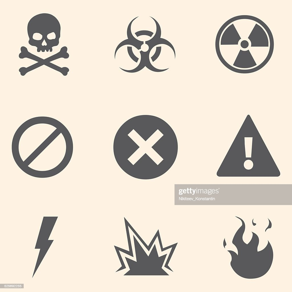 Vector Set of Warning Icons