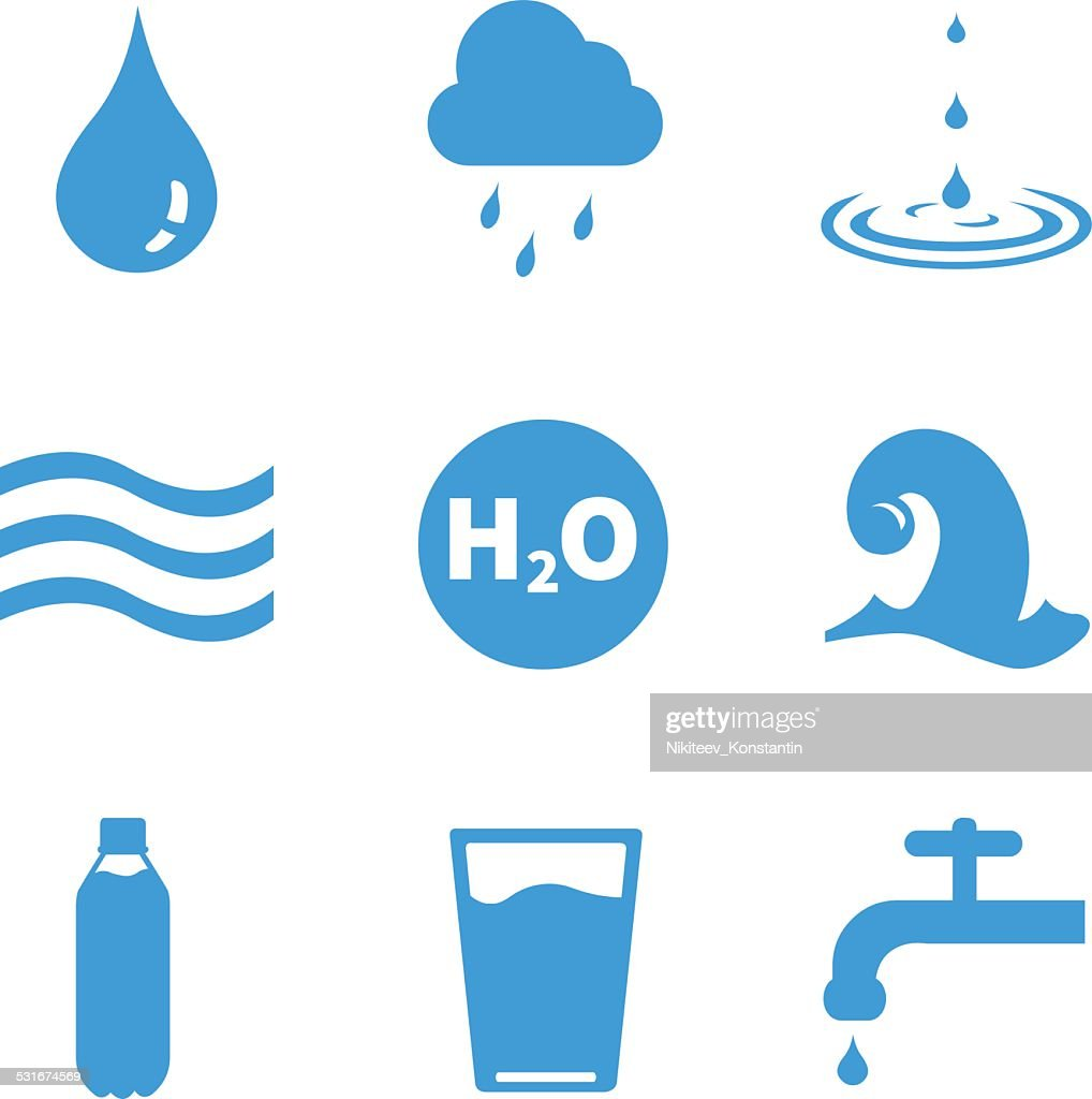 Vector Set of Water Icons